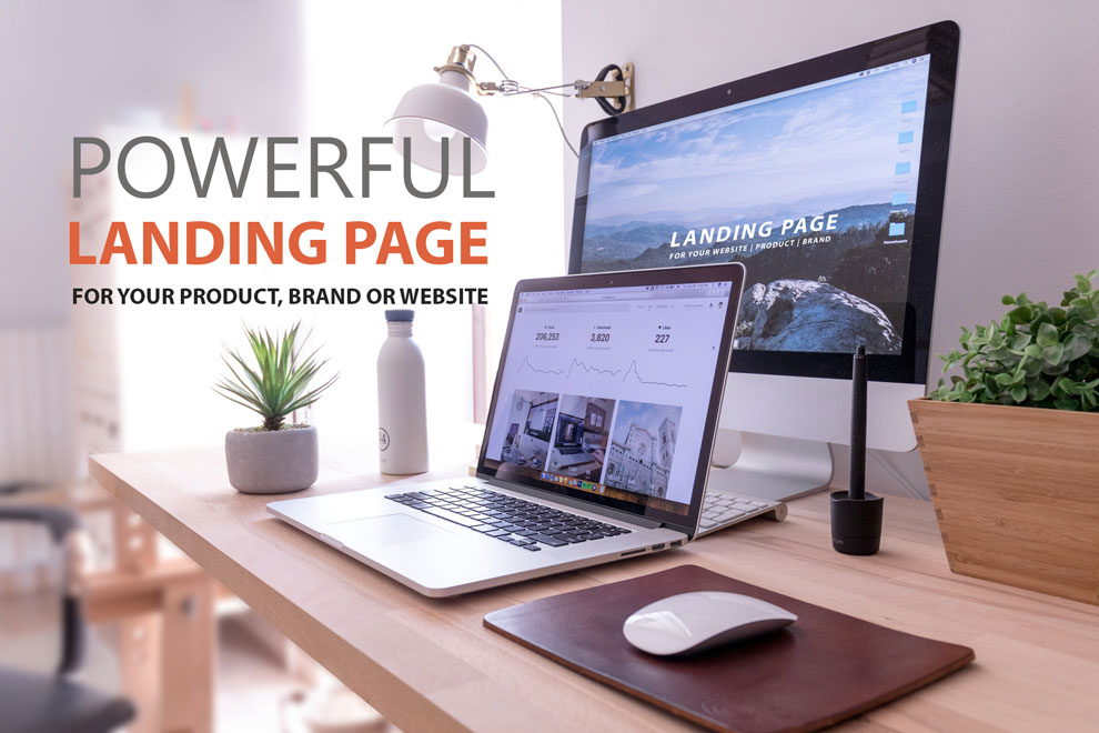 Powerful Landing Page for Your Product, Brand or Website